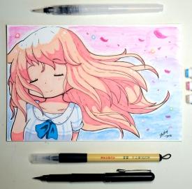 Yogurt - Watercolour and Markers - [April 8, 2018]